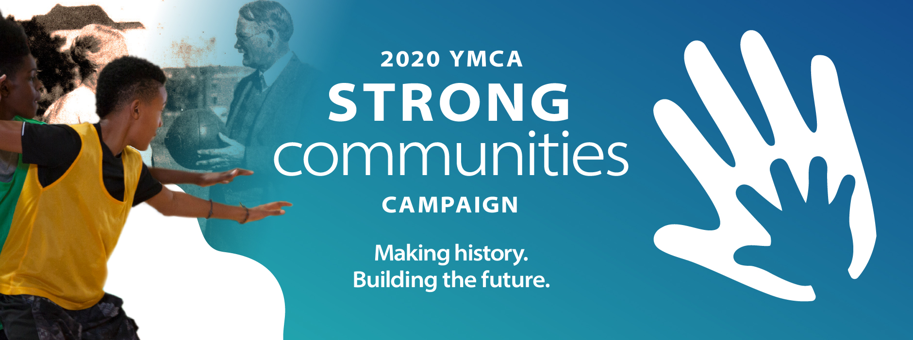 The 2020 Strong Communities Annual Giving Campaign header image